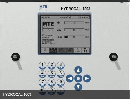 analisador de gases em transformador ydrocal 1003