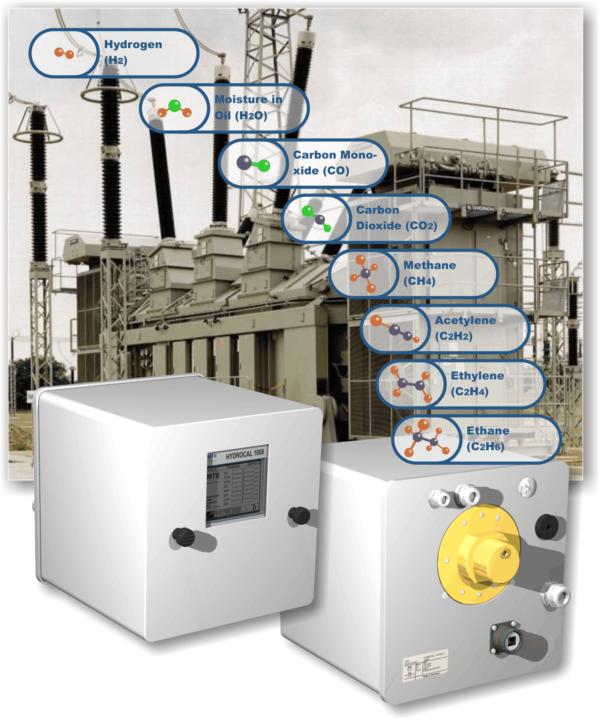 Analisador de gases em transformador hydrocal 1008