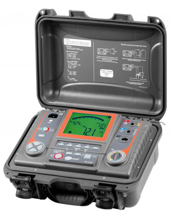 Medidor de resistência de isolamento MIC-5010