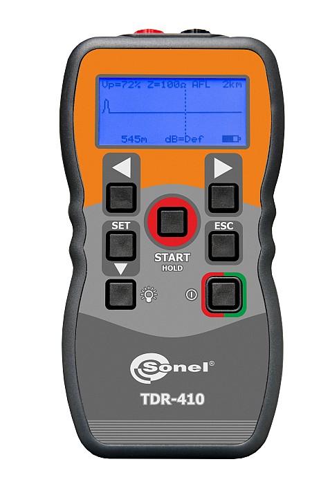 Analisador de falha em cabos TDR-410